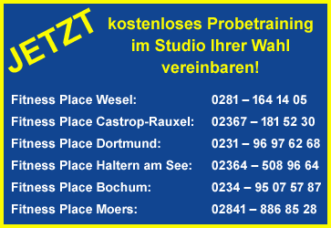 Probetraining 2019 - Fitnessplace Deutschland